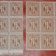 Sellos: 10 PFENNIG STEMPEL SELLOS ALEMANIA BIZONA ALLIED MILITARY POSTAGE. Lote 43778632