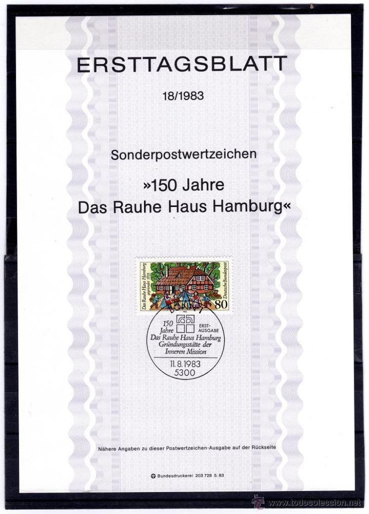 ALEMANIA YVERT 1018** AÑO 1983. 150º ANIVERSARIO DE LA FUNDACIÓN PARA LA INFANCIA ROUBE DE HAMBURGO (Sellos - Extranjero - Europa - Alemania)