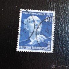 Sellos: BERLÍN. 113 FESTIVAL DE MÚSICA Y ANIVERSARIO MUERTE DE WILHELM FURTWÄNGLER. 1955. SELLOS USADOS Y NU. Lote 44314028