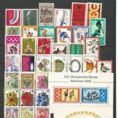 Sellos: SELLOS DE ALEMANIA. AÑO 1976 COMPLETO NUEVO. Lote 107695807