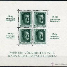 Sellos: ALEMANIA IMPERIO III REICH AÑO 1937 YV HB 10*** ADOLF HITLER - PERSONAJES. Lote 45472636