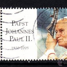 Sellos: ALEMANIA 2286 - AÑO 2005 - EN MEMORIA DEL PAPA JUAN PABLO II. Lote 140445049
