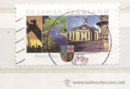 ALEMANIA 2007. 50 AÑOS SARRE FEDERACIÓN (TIPO ADHESIVO) (Sellos - Extranjero - Europa - Alemania)
