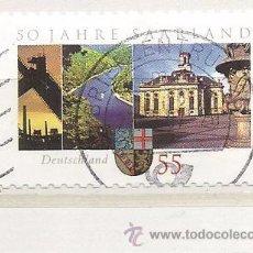 Selos: ALEMANIA 2007. 50 AÑOS SARRE FEDERACIÓN (TIPO ADHESIVO). Lote 260789340