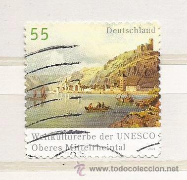 ALEMANIA 2006.VALLE DEL RIN (PATRIMONIO MUNDIAL DE 2002) (TIPO ADHESIVO) (Sellos - Extranjero - Europa - Alemania)