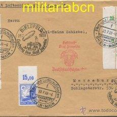 Sellos: ALEMANIA III REICH. SOBRE PRIMER DÍA CON SELLOS Y MARCHAMOS, VUELO GRAF ZEPPELIN. 23 DE JULIO 1939. Lote 48904830