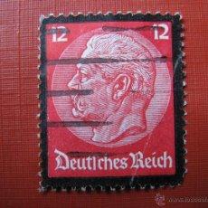 Sellos: ALEMANIA, 1934, MUERTE DE HINDENBURG, YVERT 507. Lote 49053561