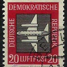 Sellos: ALEMANIA DDR 1957- YV PA02 (AEREO). Lote 49738635