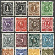 Sellos: ALEMANIA 1946 ZONA AMERICANA INGLESA SOVIETICA ** VARIOS NUEVOS SIN FIJASELLOS. Lote 51063263