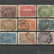 Sellos: ALEMANIA 1921-1922 CONJUNTO DE SELLOS USADOS. Lote 51083367