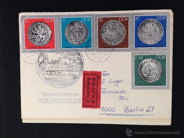 Carta Circulada Historia Munzen Stadtetaler 198 Comprar Sellos