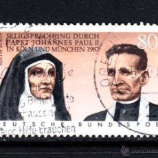 Sellos: ALEMANIA 1184 - AÑO 1988 - BEATIFICACION DE EDITH STEIN Y RUPERT MAYER . Lote 52671167