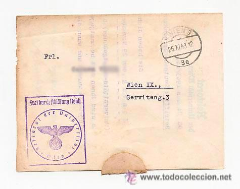 CARTA DE LA UNIVERSIDAD CON SELLO NAZI . CURSO ALEMAN PARA EXTRANJEROS. 1943 (Sellos - Extranjero - Europa - Alemania)