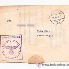 Sellos: CARTA DE LA UNIVERSIDAD CON SELLO NAZI . CURSO ALEMAN PARA EXTRANJEROS. 1943. Lote 52952411