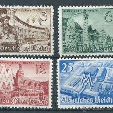 Sellos: R6/ ALEMANIA IMPERIO 1940, MICHEL 734/737, LEIPZGER... NUEVOS*. Lote 53405925