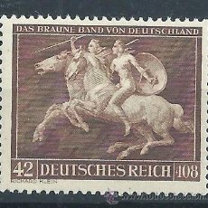Sellos: R6/ ALEMANIA IMPERIO 1941, MICHEL 780, GALOPPRENNEN. DEUTSCHES REICH, NUEVO*. Lote 53590104