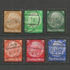 Sellos: ALEMANIA 1934 PRESIDENTE HINDENBURG YVERT NUM. 503/8 SERIE COMPLETA USADA. Lote 53665970