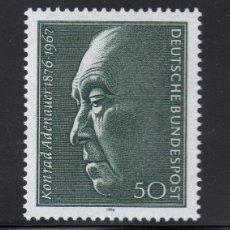 Sellos: ALEMANIA 725** - AÑO 1976 - CENTENARIO DEL NACIMIENTO DE KONRAD ADENAUER. Lote 234141645
