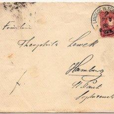 Sellos: SOBRE CIRCULADO DE LANDECK IN SCHLESIEN A HAMBURG - SELLO 10 PFENNING GUILLERMO II - AÑO 1888. Lote 55354422