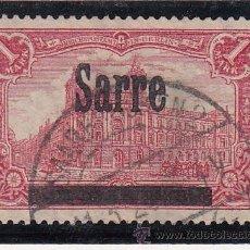 Sellos: ALEMANIA-SARRE 17 USADA, SOBRECARGADO, DIENTE CORTO. Lote 56629887