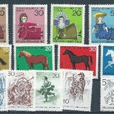 Sellos: R7/ BERLIN ** 1968/69, CAT. 297/309. CONJUNTO SERIES COMPLETAS. Lote 57815243