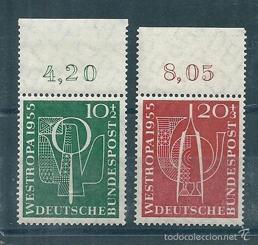 ALEMANIA FEDERAL Nº 93/4 (YVERT) AÑO 1955. (Sellos - Extranjero - Europa - Alemania)