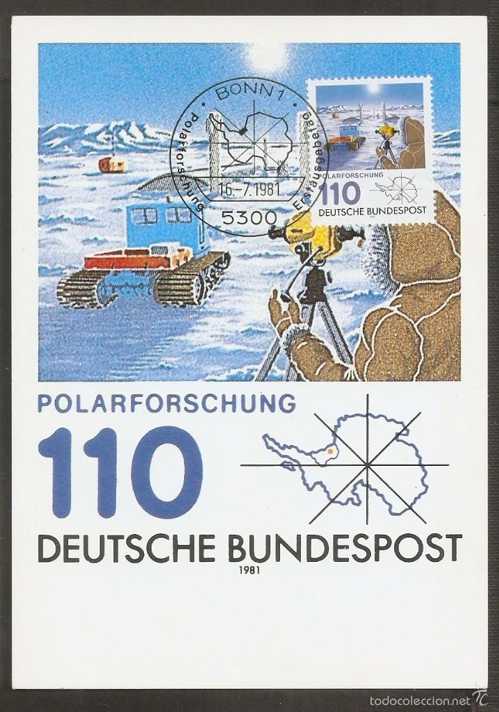 ALEMANIA FEDERAL. 1981 TARJETA MÁXIMA . MC Nº 19 (Sellos - Extranjero - Europa - Alemania)