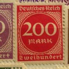 Sellos: 3 SELLOS IMPERIO ALEMAN 1923. Lote 58907765