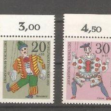 Sellos: ALEMANIA SELLOS SIN USAR NUEVOS SERIES COMPLETAS 1970. Lote 62636860