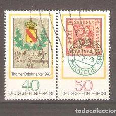 Sellos: SELLOS ALEMANIA FEDERAL 24/10 AÑO 1978 DIA DEL SELLO. Lote 63689939