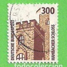 Sellos: ALEMANIA FEDERAL - MICHEL 1348 - YVERT 1180 - TURISMO/CASTILLOS - CASTILLO DE HAMBACH. (1988).. Lote 65908298