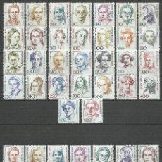 Sellos: ALEMANIA FEDERAL Y BERLIN - 1986/1999 - SERIE MUJERES CELEBRES - MNH. Lote 66981006