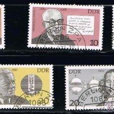 Briefmarken - ALEMANIA - LOTE DE 5 SELLOS - PERSONAJES (USADO) LOTE 29 - 67221493