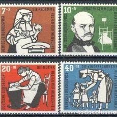 Sellos: ALEMANIA FEDERAL 1959 IVERT 119/22 *** EN AYUDA DE LA HUMANIDAD. Lote 69342473