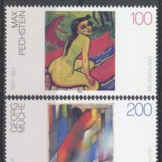 Sellos: ALEMANIA 1996 IVERT 1675/7 *** PINTURA ALEMANA DEL SIGLO XX - ARTE. Lote 69355121