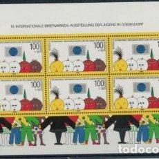 Sellos: ALEMANIA 1990 HB IVERT 20 *** 10º EXPOSICIÓN FILATÉLICA INTERNACIONAL DE LA JUVENTUD EN DUSSELDORF. Lote 69355709