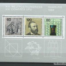 Sellos: REPÚBLICA FEDERAL ALEMANA, 1984. XIX CONGRESO UPU. MNH**. Lote 71643461