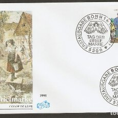 Sellos: ALEMANIA FEDERAL 1991. FDC.TAG DER BRIEFMARKE. Lote 70170005