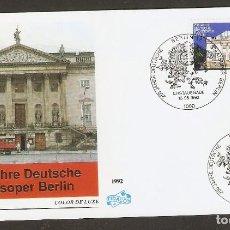 Sellos: ALEMANIA FEDERAL.1992. FDC. STAATSOPER BERLIN. Lote 134332258