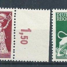 Sellos: R14/ ALEMANIA IMPERIO ** , 1942, MICHEL 816/17. 10 JAHRE DEUTSCHRE GESELLSCHAFT .... Lote 75064271