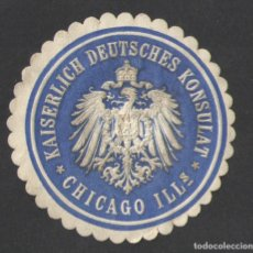 Sellos: KAISERLICH DEUTSCHES KONSULAT - CHICAGO ILLS.. Lote 77221449