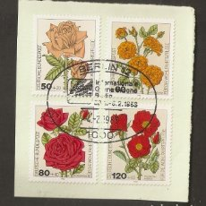 Sellos: ALEMANIA FEDERAL.1982. YV Nº 982/985. FLORES. Lote 82179788