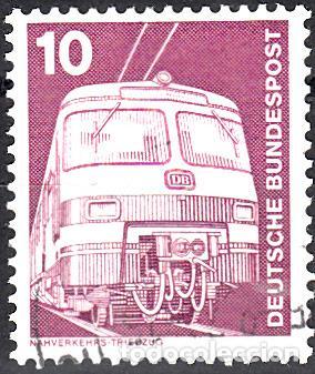 ALEMANIA FEDERAL. IVERT 695 USADO. TRENES. (Sellos - Extranjero - Europa - Alemania)