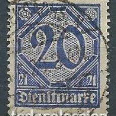 Sellos: ALEMANIA,1920,SERVICIO,FILIGRANA ROMBOS,USADOS. Lote 221948458