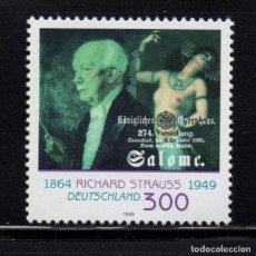 Sellos: ALEMANIA 1908** - AÑO 1999 - MUSICA - 50º ANIVERSARIO DE LA MUERTE DE RICHARD STRAUSS. Lote 85959456