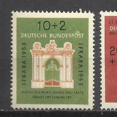 Sellos: 5566-ALEMANIA FEDERAL SERIE COMPLETA 1953 Nº57/8.MNH** LUJO.YVERT 75,00€. **************************. Lote 87491228