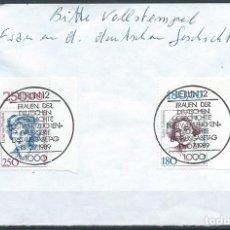 Sellos: ALEMANIA,BERLÍN,MUJERES CÉLEBRES,1989,MATASELLOS ESPECIAL. Lote 87712355