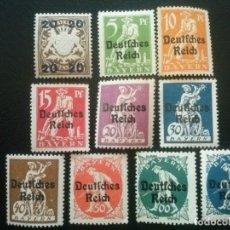 Selos: BAVIERA , ESTADOS ALEMANES , YVERT Nº 195 - 203 + 205 * CHARNELA , 1920. Lote 89767416
