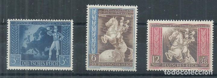 R14/ ALEMANIA IMPERIO 744/46, 2ª GUERRA MUNDIAL, NUEVOS ** MNH (Sellos - Extranjero - Europa - Alemania)