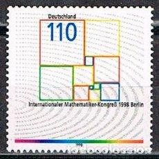 Timbres: ALEMANIA IVERT Nº 1837, CONGRESO INTERNACIONAL DE LAS MATEMÁTICAS EN BERLIN, NUEVO ***. Lote 92420325